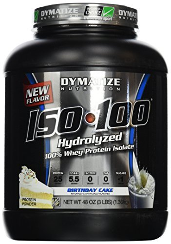 Dymatize 1360 g ISO-100 Birthday Cake Protein Supplements by Dymatize by Dymatize