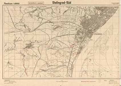 Amazon.com: 1942 Map Stalingrad-Süd. - Size: 18x24 - Ready to Frame ...