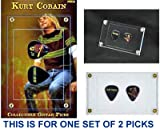 Kurt Cobain (#TWO) Collectible Guitar Picks - Set B, Red Sweater - NECA - New in Display Case, Sealed - Very RARE Collectible!