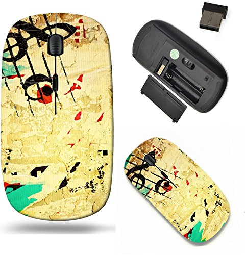(Liili Wireless Mouse Travel 2.4G Wireless Mice with USB Receiver, Click with 1000 DPI for notebook, pc, laptop, computer, mac book Abstract grunge melody textures and backgrounds with space Photo 1935)