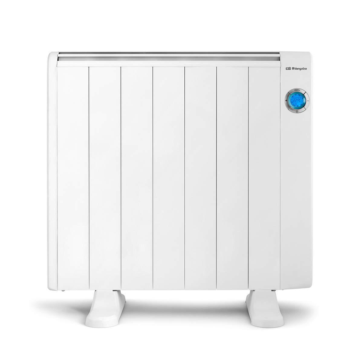 Pantalla Digital LCD Mando a Distancia Aluminio Color blanco 500 W Orbegozo RRE 510 Emisor T/érmico Bajo Consumo 3 Elementos de Calor