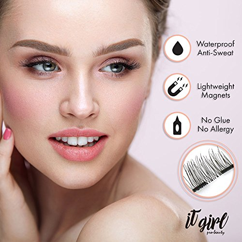 bd04a3a2ecb Dual Magnetic False Eyelashes Extension for women 3D Glue-FREE - Import It  All