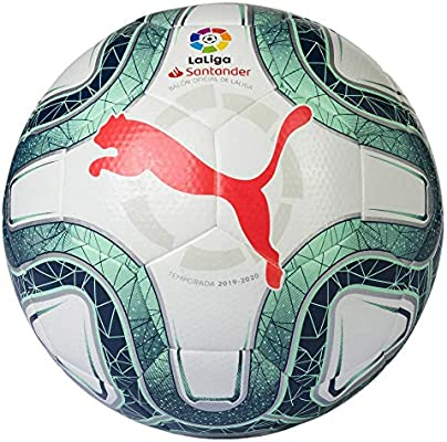 Puma LaLiga Hybrid 2019-2020, Balón, White-Green, Talla 4: Amazon ...