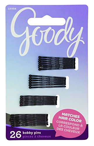 Goody Women's Colour Collection Small Metallic Bobby Slide Black, 26 Count