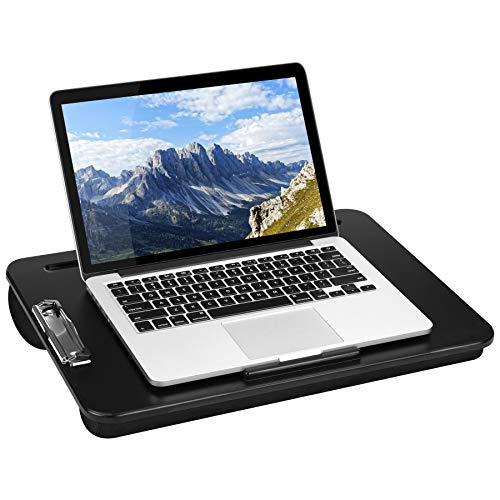 LapGear Clipboard Lap Desk - Black - Fits Up to 15.6 Inch Laptops - Style No. 45138 ()