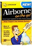 Airborne on the Go Immune Support Supplement Powder, Lemonade, 10 Packets (Pack of 6)