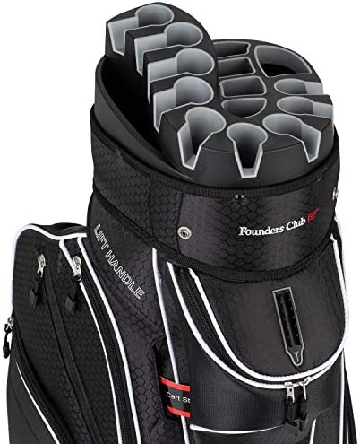 Founders Club Premium Cart Bag with 14 Way Organizer Divider Top