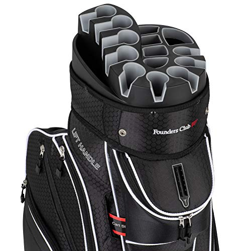 Founders Club Premium 14 Way Organizer Cart Bag (Black) ()