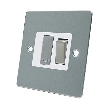 AET CSCSFSWS Interruptor con Fusible, 13 A, Metal Color Cromado con Acabado Satinado e
