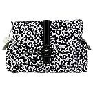 Laminated Buckle Diaper Bag Color: Leopard- Black & White