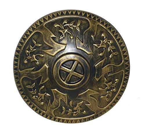 Greek Shield Costume (23821 Roman Shield 17 Inch Round Gold New Design)