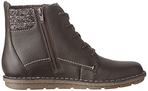 Brown Tamitha CLARKS Rose Leather Women's Dark Boot S0Fzq