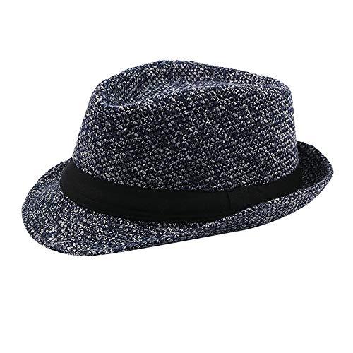 ❤ Fulijie Cotton Cap, Fashion Vintage Hemp Men Absorption Sweat Grosgrain Band Jazz Hat Breathable Cap Black