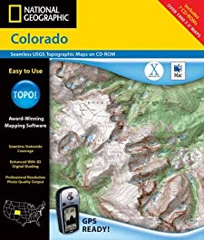 Colorado: Seamless USGS topographic maps on CD-ROM National Geographic Society (U.S.)