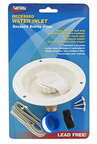 (Valterra A010177LFV Colonial White Metal Recessed Water Inlet)