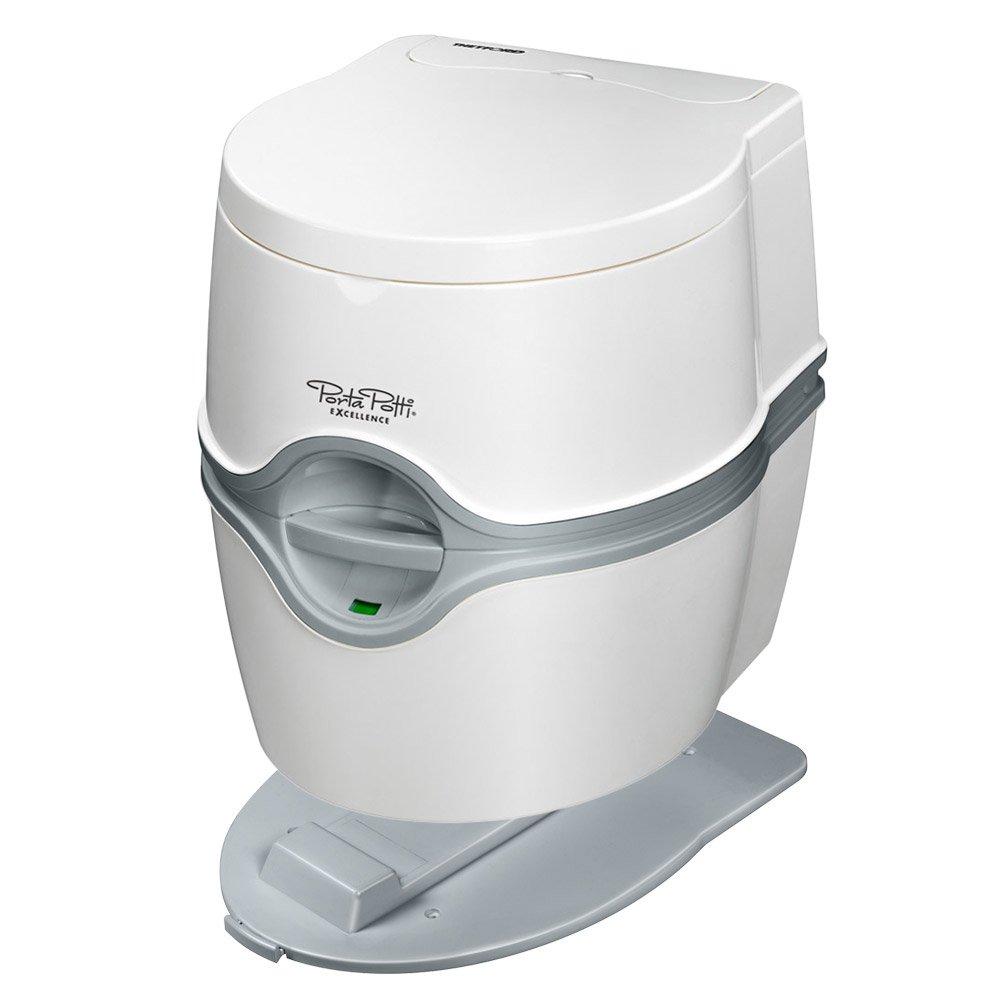Thetford Camping Toilette 565P Excellence 21L mit elektrischer Pumpe und Bodenbefestigung