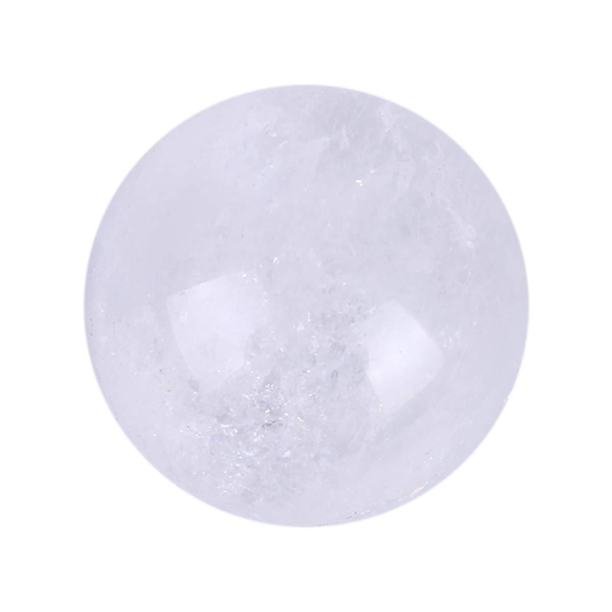 Yunnyp Bola de cristal blanco natural, piedra curativa bola de esfera natural de cristal de cuarzo 40 mm