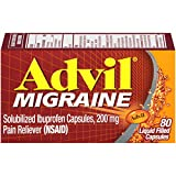 Advil Migraine Pain Reliever, Solubilized Ibuprofen 200mg, 80 Count, Liquid Filled Capsules, Powerful Migraine Relief