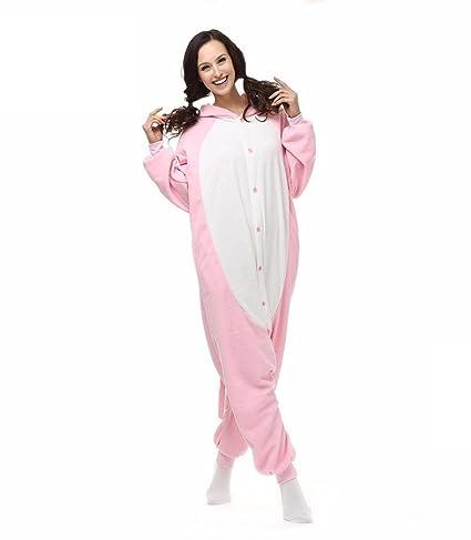 Amazon.com : HYY@ Kigurumi Pajamas Cosplay / Piggy/Pig Leotard/Onesie Halloween Animal Sleepwear Pink Patchwork Polar Fleece Kigurumi UnisexHalloween ...