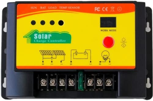 HQRP 20A Solar Panel Battery Charge Controller//Regulator 12V 24V 20 Amp 300W with PWM Type of Charging plus UV Meter