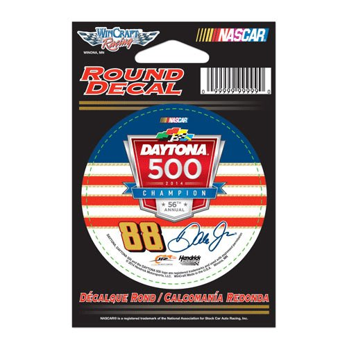 #88 Dale Earnhardt Jr 2014 -Daytona Winner 3 Round Decal Wincraft