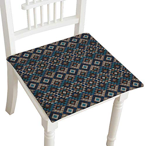 Chair Seat Pads Cushions Native American Fabric by the Yard by Ethnic Knitted Jacquard View FabricGeometric ative Fabric Square Car and Chair Cushion / Pad With Ties, Soft, For Indoors Or Outdoor 24
