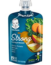 Gerber Purees Sweet Potato Mango Pear and Kale Toddler Pouch, 12 Count