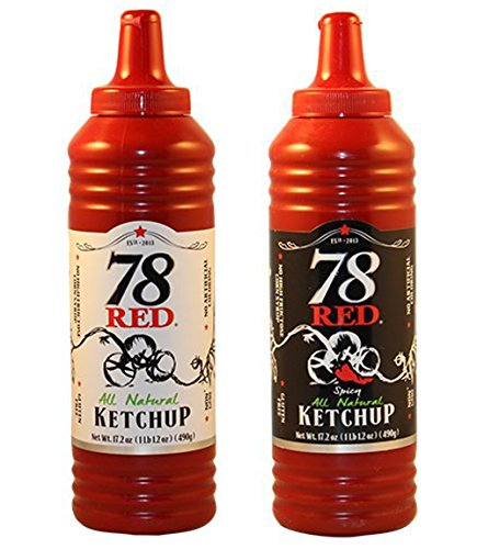 78 Red Ketchup All Natural Original and Spicy Combo Pack