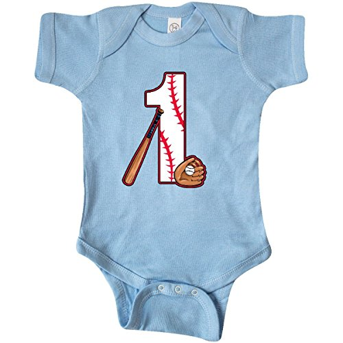inktastic - Baseball First Birthday- Infant Creeper 18 Months Baby Blue 2caf0
