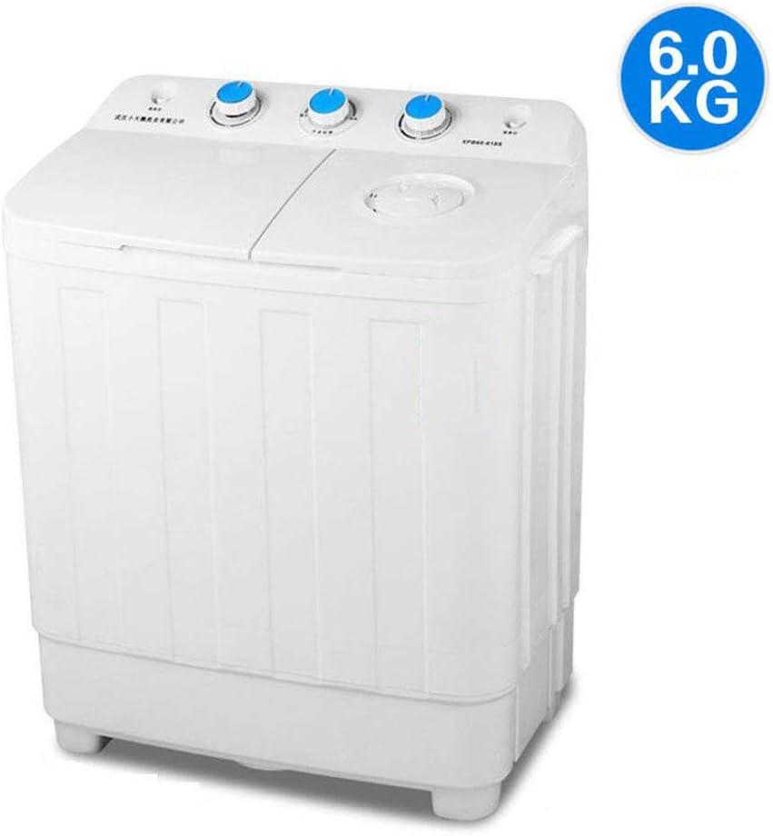 ELEXERT Mini Lavadora,Lavadora Portatil,de 5 KG / 8 KG de Capacidad Total Combinada y Secadora Bajo Consumo Silencioso Combo Compacta para Dormitorios de Camping Apartamentos,White