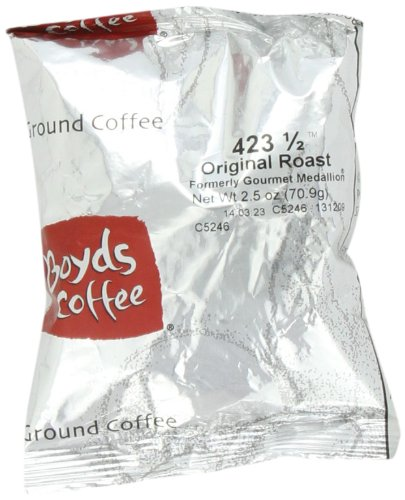 Boyd's Coffee Ground Coffee, Original Roast, 2.5-Ounce Portion Packs (Pack of 50) by Boyds Coffee
