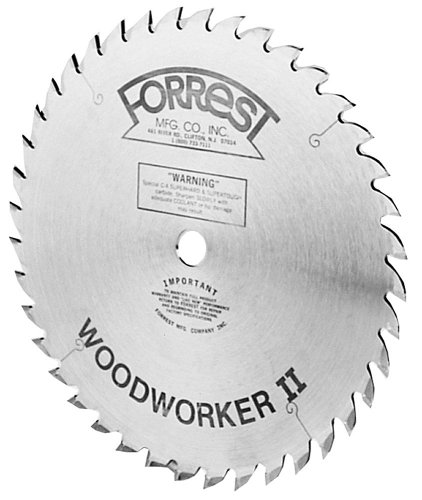 Forrest WW10407125 Woodworker II 10-Inch 40 Tooth ATB .125 Kerf Saw Blade with 5/8-Inch ()