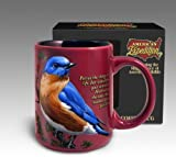 Deluxe Signature Series Stoneware Coffee Mug by American Expedition: EASTERN BLUEBIRD