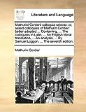 Mathurini Corderii Colloquia Select, Mathurin Cordier, 1140968815