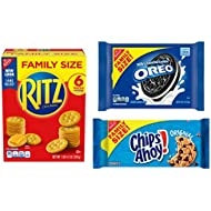 OREO, RITZ, & CHIPS AHOY! Snack Variety Pack, Cracker Snacks, Cookie Snacks, Family Size - 3 Packs