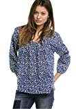 Ellos Women's Plus Size Relaxed Shirred Peasant Blouse