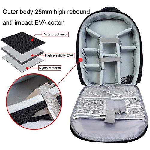 Caden Camera Backpack Case Waterproof Shockproof DSLR Bag Carry On Luggage Bag with Rain Cover Tripod Holder for Sony Canon Ni