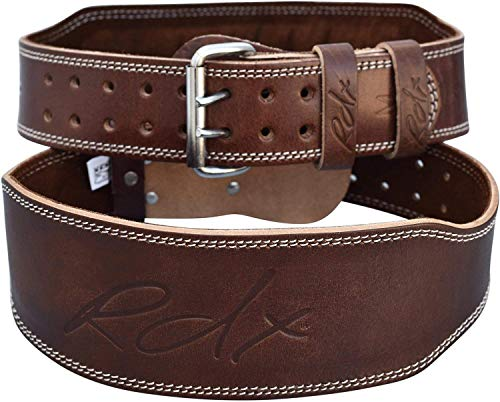 RDX Weight Lifting Belt Cow Hide Leather Gym 4