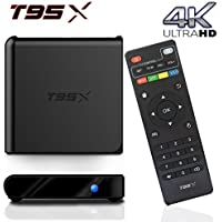 BPSMedia (2017 Upgraded Version) T95X 4K Amlogic S905 Set Top TV Box Android 5.1 Lollipop OS KODI XBMC Quad Core Google Streaming Media Player 1GB - 8GB with WiFi HDMI DLNA