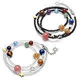 QGEM Solar System Bracelet/Necklace Universe Galaxy The Nine Planets Guardian Star Healing Jewelry