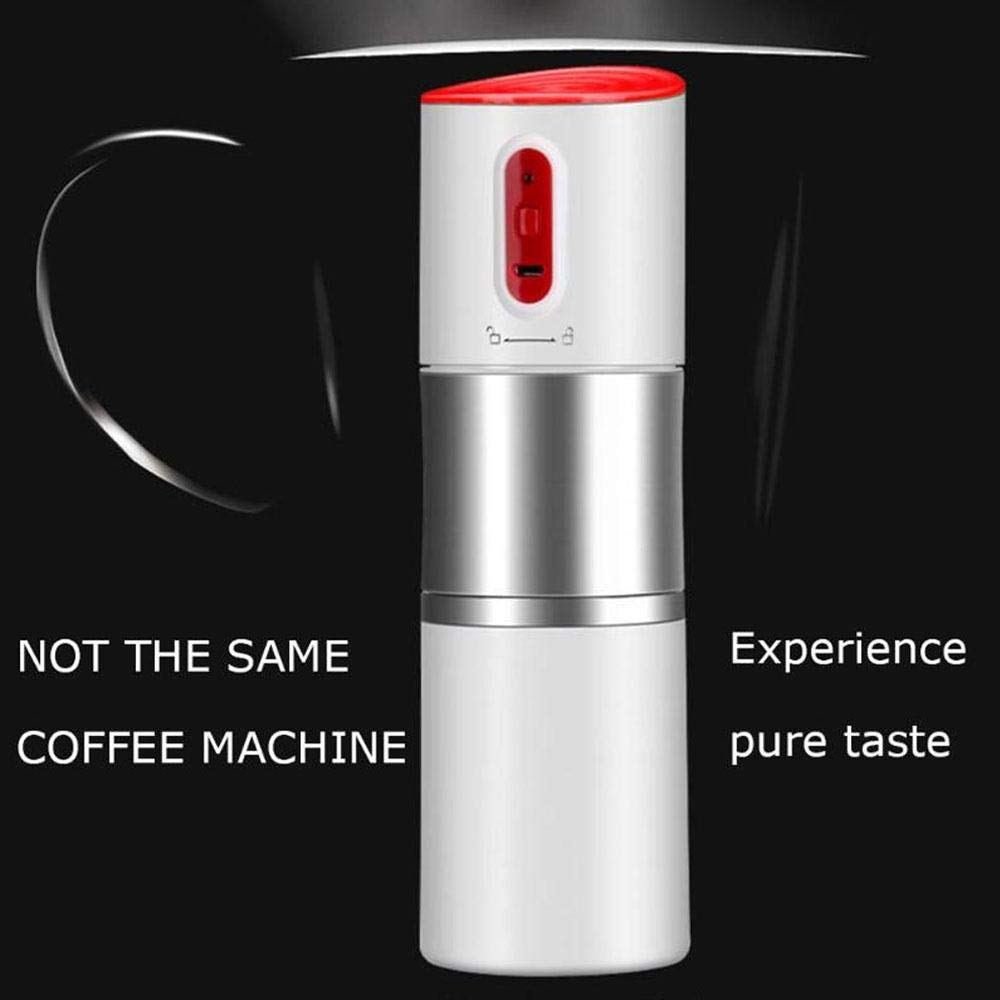 Layopo Electric Coffee Grinder USB Rechargeable Smart Coffee Bean Grinder- Multi-Function Stainless Steel Personal Coffee Grinder Coffee Cup with Filter for Office, Home, Travel, Camping by Layopo (Image #7)