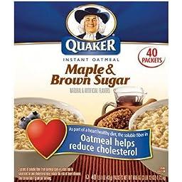 Quaker Instant Oatmeal Maple Brown Sugar - 40ct