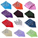 HDE 12 Pack Assorted Cotton Bandana Paisley Print - Best Reviews Guide