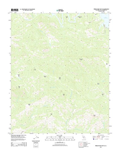 - Topographic Map Poster - Pebblestone Shut-in, CA TNM GEOPDF 7.5X7.5 Grid 24000-SCALE TM 2012, 24