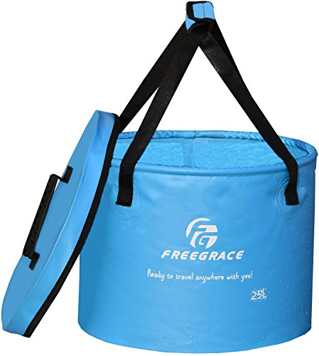 Premium-Compact-Collapsible-Bucket-By-Freegrace-Portable-Folding-Water-Container-Lightweight-Durable-Includes-Handy-Tool-Mesh-Pocket-Available-In-Multiple-Colors-Sizes