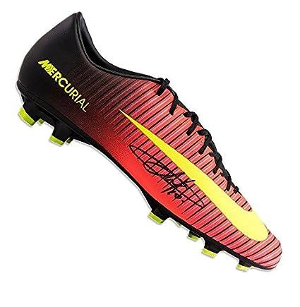 8b168b867 Eden Hazard Signed Football Boot - Nike Mercurial Orange Black Autograph -  Autographed Soccer Cleats