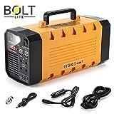 Bolt Lite Solar Portable Generator UPS Battery 1000w Peak Backup Generator, Rechargeable Power Station Inverter with 110V/500W 3 AC Outlet, 12V Car, 4 USB Ports, Camping, Car Jump Starter, Emergency