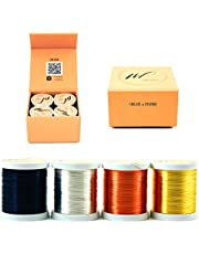 Wire Fancy Tarnish Resistant Silver-Plated Copper and Copper Jewelry Making Wire