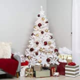 Best Choice Products 6ft Premium Hinged Artificial Christmas Pine Tree w/ 250 Lights, Metal Stand, 1,000 Tips