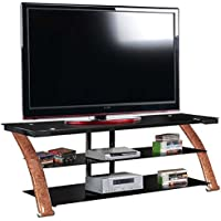 Fold N Snap Nexus EZ 65 TV Stand, Burl Wood